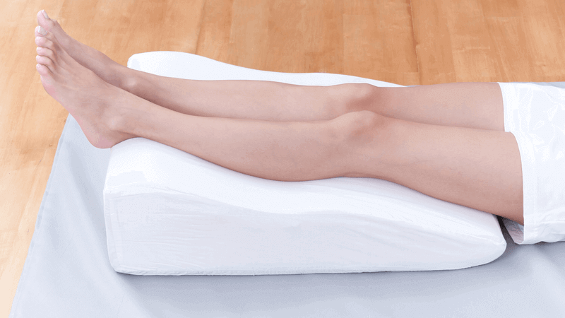 leg elevation pillow for varicose veins